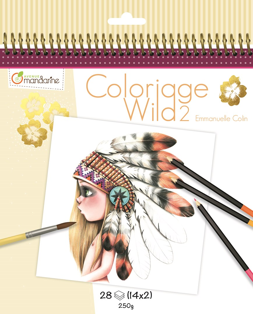 Umělecké omalovánky Coloriage Wild 2, Avenue Mandarine