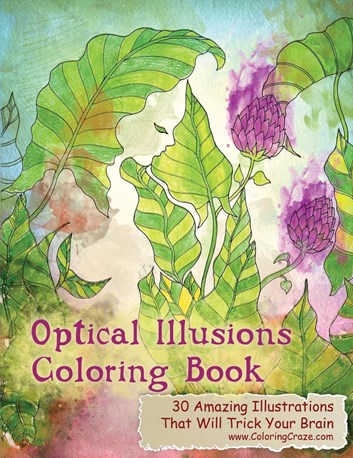 Optical illusions coloring book, různí autoři
