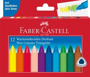 Faber-Castell, 120010, trojhranné olejové pastely (voskovky), 12 ks