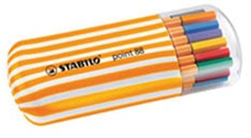 Stabilo, 8820-02, Point 88 Twister Zebrui, linery, 20 ks