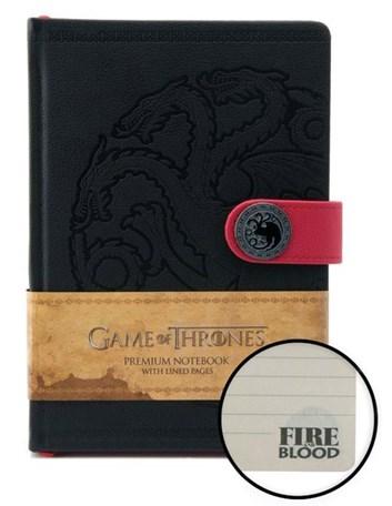 Zápisník A5 premium, motiv Game of thrones - Fire blood/Targeryen, 1 ks