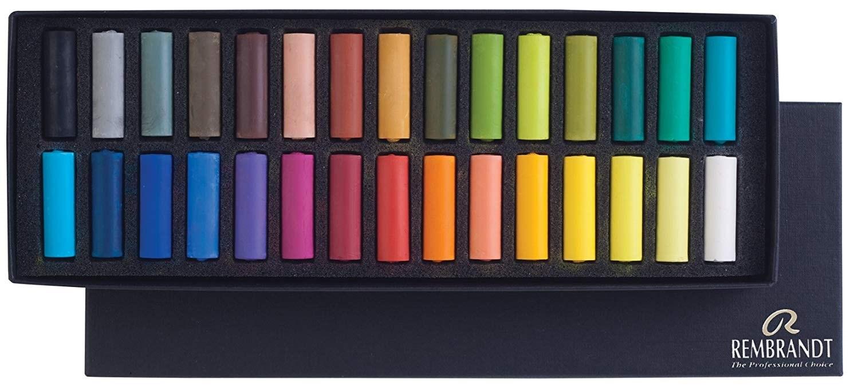 Royal Talens, 31823116, Rembrandt Pastel, sada suchých pastelů, poloviční velikost, 30 ks