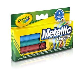Metalické fixy, 5 ks, Crayola