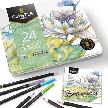 Castle art supplies, CAS-24CP-THEMED, sada uměleckých pastelek, Botanical, 24 ks