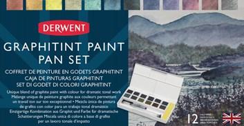 Derwent, 2305790, Graphitint, akvarelové barvy s grafitem v pánvičkách, 12 ks