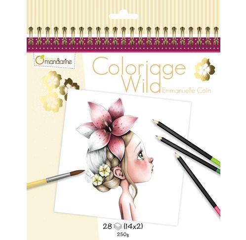 Umělecké omalovánky Coloriage Wild, Avenue Mandarine