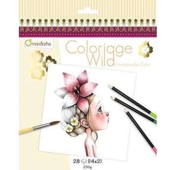 Umělecké omalovánky Coloriage Wild, GY065, Emmanuelle Colin