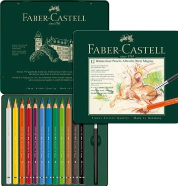 Faber-Castell, 116912, Albrecht Dürer Magnus, umělecké akvarelové pastelky, silné, 12 ks