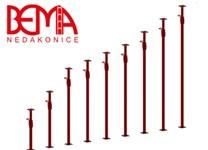 Stavební stojka lakovaná červená výška 2,0 m - výsun až - 3,6 m