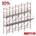 Fasádní lešení 243 m² - podlážky zesílené