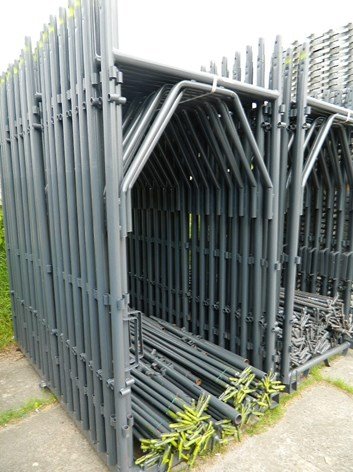Rámové lešení  121,7 m² - podlážky zesílené