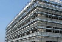 Fasádní lešení 243 m² - podlážky zánovní