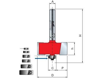 Stopková fréza drážkovací - polodrážkovací