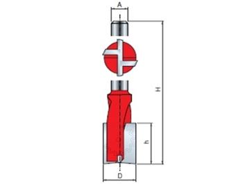 Stopková fréza drážkovací - zavrtávací