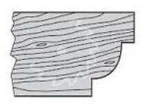 SK fréza na dřevo rádiusová KARNED 5018 čtvrtkruhová vydutá - profil