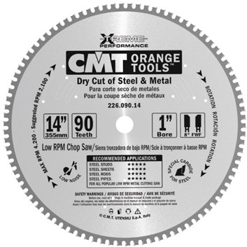 CMT XTreme Pilový kotouč na nerez ocel - D355x2,2 d30 Z90 HM