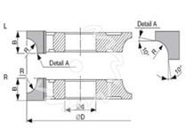 SK fréza na dřevo rádiusová KARNED 5018 čtvrtkruhová vydutá -nákres