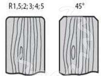 Fréza na dřevo falcovací KARNED 3552 125x40-50 - profil