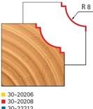 Stopková fréza na dřevo rádiusová vypouklá FREUD3020208 - profil frézování