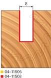 Stopková fréza na dřevo drážkovací FREUD 0411508 - profil frézování