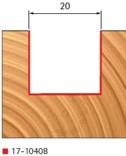 Stopková fréza na dřevo zavrtávací FREUD 1710408 - profil frézování