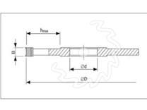 Fréza na dřevo drážkovací KARNED 5011 - nákres
