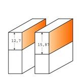CMT C707 Ořezávací fréza na lamino - D15,87x19 S=6 HM