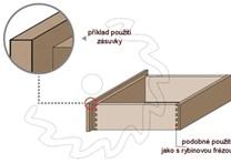 Stopková fréza na dřevo drážkovací FREUD 3250008 - příklad použití