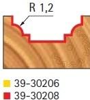 Stopková fréza tvarová bez ložiska FREUD 3930208 - profil frézování