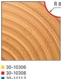 Stopková fréza na dřevo rádiusová vypouklá FREUD 3010308 - profil frézování