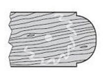 SK fréza na dřevo rádiusová KARNED 5016 půlkruhová vydutá - profil