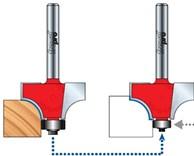 Stopková fréza na dřevo rádiusová vydutá FREUD 3411608 - možnost výměny ložiska