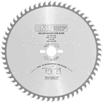 CMT Indutrial C287 Pilový kotouč na lamino bez předřezu - D220x3,2 d30 Z42 HM -6°Neg
