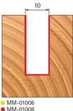 Stopková fréza na dřevo drážkovací FREUD MM01008 - profil frézování