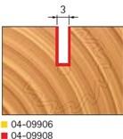 Stopková fréza na dřevo drážkovací FREUD 0409908 - profil frézování