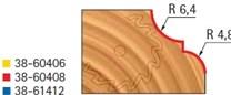 Stopková fréza tvarová s ložiskem FREUD - profil frézování