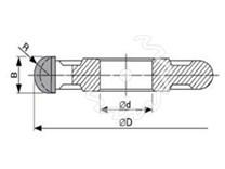 SK fréza na dřevo rádiusová KARNED 5017 půlkruhová vypouklá - nákres