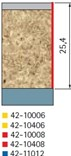 Stopková fréza na dřevo ořezávací FREUD 4210408 - profil frézování