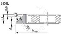Fréza na nábytkové dveře KARNED 8151L levá - nákres