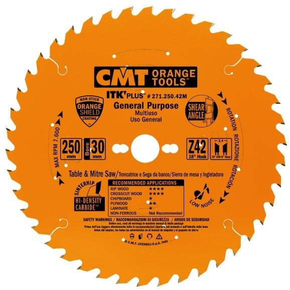 CMT ITK Ultra tenký kotouč univerzální - D190x1,7 d30 Z24 HM