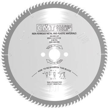 CMT Pilový kotouč na neželezné kovy a plasty - D300x3,2 d32 Z96 HM