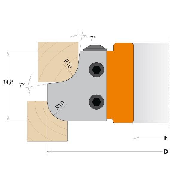Nůž pro F612-308
