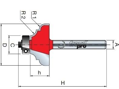 Stopková fréza tvarová s ložiskem FREUD