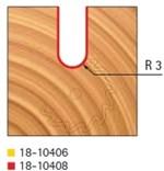Stopková fréza rádiusová do plochy FREUD 18-10408 R=3,0 - profil frézování