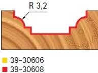 Stopková fréza tvarová bez ložiska FREUD 3930608 - profil frézování