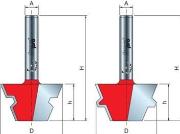 Sada fréz na dřevo spojovací FREUD 9904308 D=37,3 α=22,2º A=8