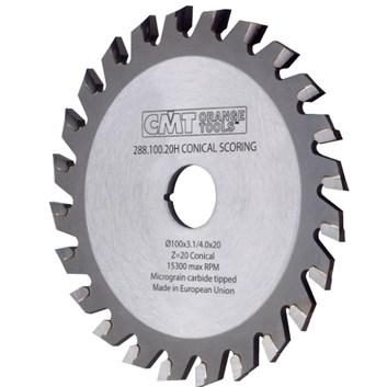 CMT Předřezový kotouč kónický pro CNC stroje D180x4,3-5,5 d20 Z36 HM
