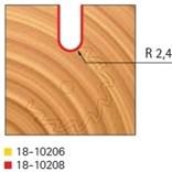 Stopková fréza rádiusová do plochy FREUD 18-10208 R=2,4 - profil frézování