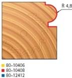 Stopková fréza na dřevo rádiusová půlkruhová FREUD 8010408 - frézovaný profil