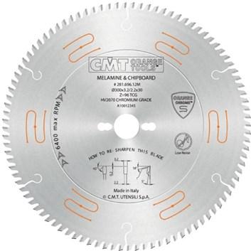 CMT CHROME Pilový kotouč na lamino, DTD, MDF - D300x3,2 d30 Z96 HM
